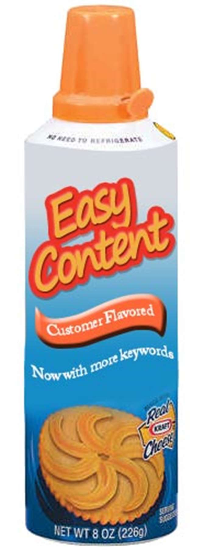 Easy Content can. Not affilated or endorsed by Kraft Foods
