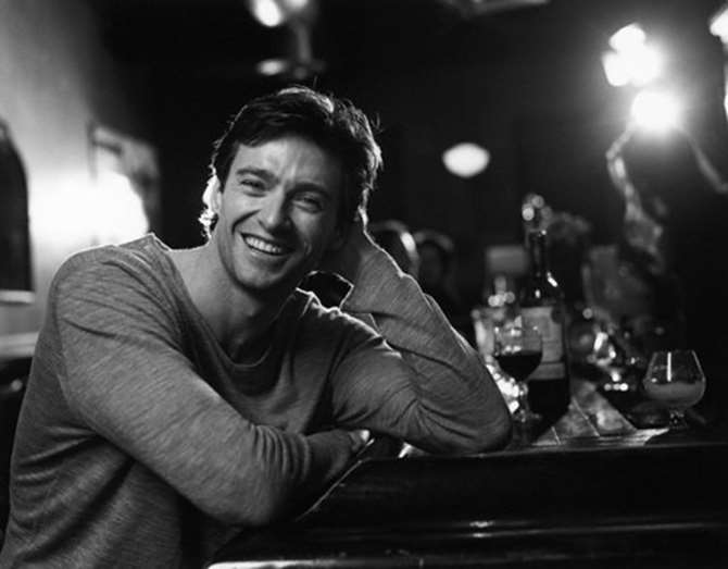 2001 Actor Hugh Jackman at a bar. Image by Anders Overgaard/ CORBIS OUTLINE