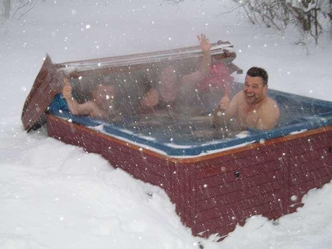 Image of people in hot tub