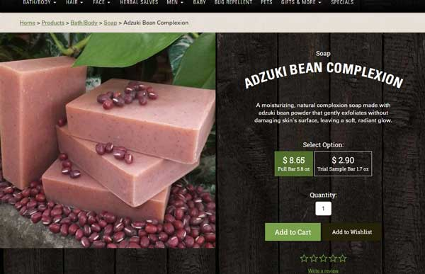 Ecommerce Web Design Case Study: Chagrin Valley Soap   Aztek