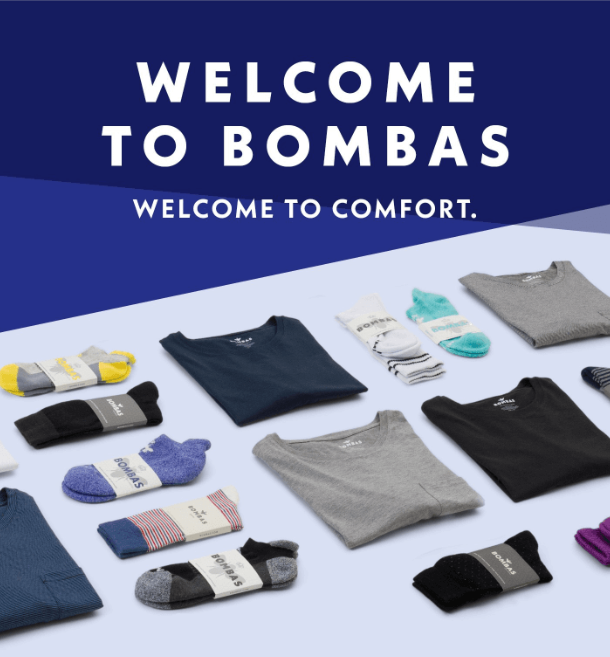 Bombas welcome email.